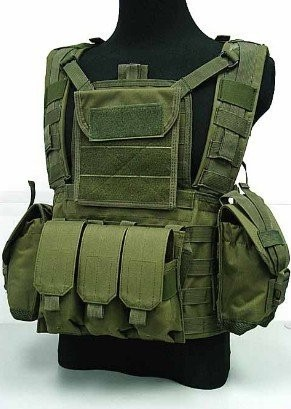 New Tactical Molle Water Reservoir A-TACS FG Airsoft Combat RRV Vest