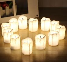 12pcs/lot Flicker Battery Candles Plastic Led Candles Flameless Tea Night light For Christmas Halloween Wedding Decoration