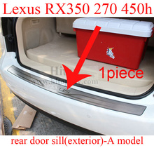 for LEXUS RX350 RX450h RX270 RX350 F sport rear bumper protector door sill/scuff plate,five choices,low price,quality supplier