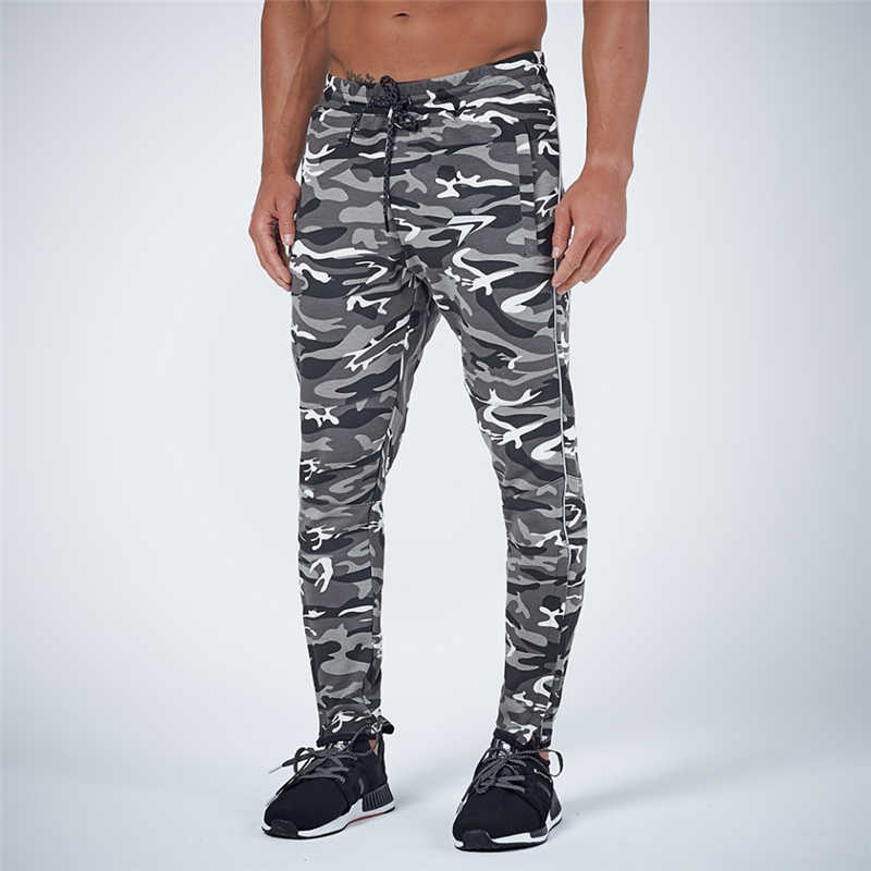GYMOHYEAH NEW pants Men's High quality workout bodybuilding clothing casual camouflage sweatpants joggers pants skinny trousers 16