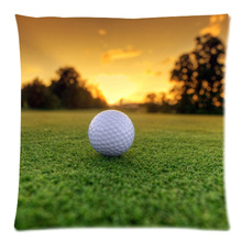 45*45cm Personalized Golf Ball Two Side Polyester Peach Skin Cushion Cover Throw Pillow Case Free Shipping