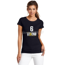 Women Italy League CAMPIONI D'ITALIA 6 LEGEND Six Consecutive Champion T-shirt for juventus fans gift Lady T Shirt Girl W0525005