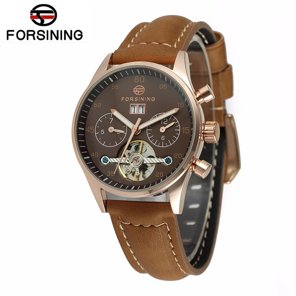 New 2017 FORSINING Fashion Womens Mult-functional Auto Mechanical Watch Wristwatch  Gift Free Ship<br>