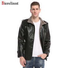 Bierelinnt 2017 Winter Warm Outerwear Cotton Coat Leather Men Jacket,Good Quality New Arrival Casual Fashion Jacket Men,7998(China)