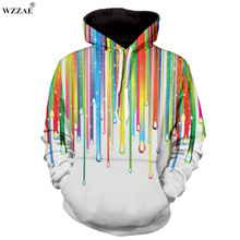 WZZAE For Hip Hop 3D Printed Hoodies 2017 Fashion Hoodies Aweatshirts Casual Chandal Sudaderas Hombre Fitness Hoody Coat Jacket