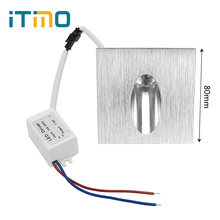 ITimo Led Footlight Square Wall Lamps 3W Spot Light Recessed Pathway Bulb Wall Corner Lights for Stairs Corridor Foyer(China)