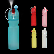 Multi-function outdoor water bottle Portable Atomizing Cycling Sports Gym Drinking Drinkware Bottles 600Ml TOP quality F3(China)