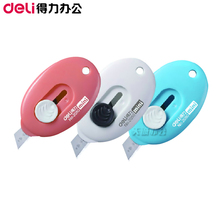 Free shipping Deli stationery deli 2050 mini cutter candy color utility knife Small portable mini utility knife
