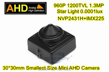 960P 1.3MP 1/3 NVP2431H+SONY IMX255 0.0001lux Super low lux Star light 30x30mm Mini Square AHD Camera CCTV Security()