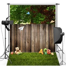 Tree Old Wood Teddy Bear Green Grass photo studio background Vinyl cloth High quality Computer print party photo backdrop