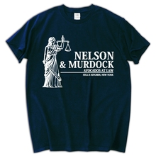 Nelson and Murdock Attorneys at Law Mens T-Shirt Funny Cotton Adult MALE TOP TeeS(China)