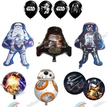10pcs/set Star Wars  The Force Awaken Globos Foil Balloons Latex Balloons Kids Toys Birthday Party Decoration Helium Balloons
