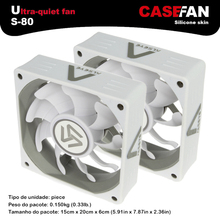 ALSEYE 2pieces computer case fan 80mm white silicone skin 2000RPM 3pin 12v CPU cooler fan radiaor for DIY water cooling