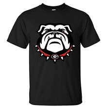 2017 Fashion Brand Men's T shirt Men's Georgia Bulldogs Cotton Short Sleeves T-shirts Hipster O-neck cool tops