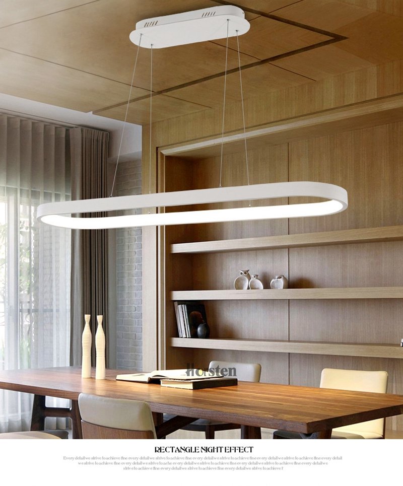 Modern Minimalism Oval Ring LED Pendant Lights Aluminum Acrylic Suspension Hanging Lamps For Dining Room Restaurant Office (6)