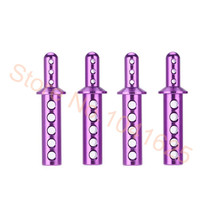 4pcs/lot HSP 108037 Purple Aluminum Body Post Upgrade Parts For 1/10th RC 4WD Car Off Road Monster Truck Red Cat Himoto