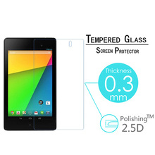 Premium Tempered Glass Screen Protector Guard Film For LG GOOGLE NEXUS 7 II 2nd 7.0 2013  9H 0.3mm 2.5D Hardness Screen Cover