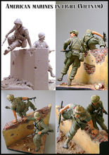 1/35 Resin Figure Model Kit AMERICAN MARINES IN FIGHT Unassambled Unpainted(China)