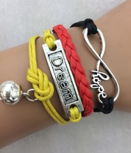 3pcs World Cup 2014 Soccer World Cup theme bracelet flag football fans bracelet braided bracelet  3770