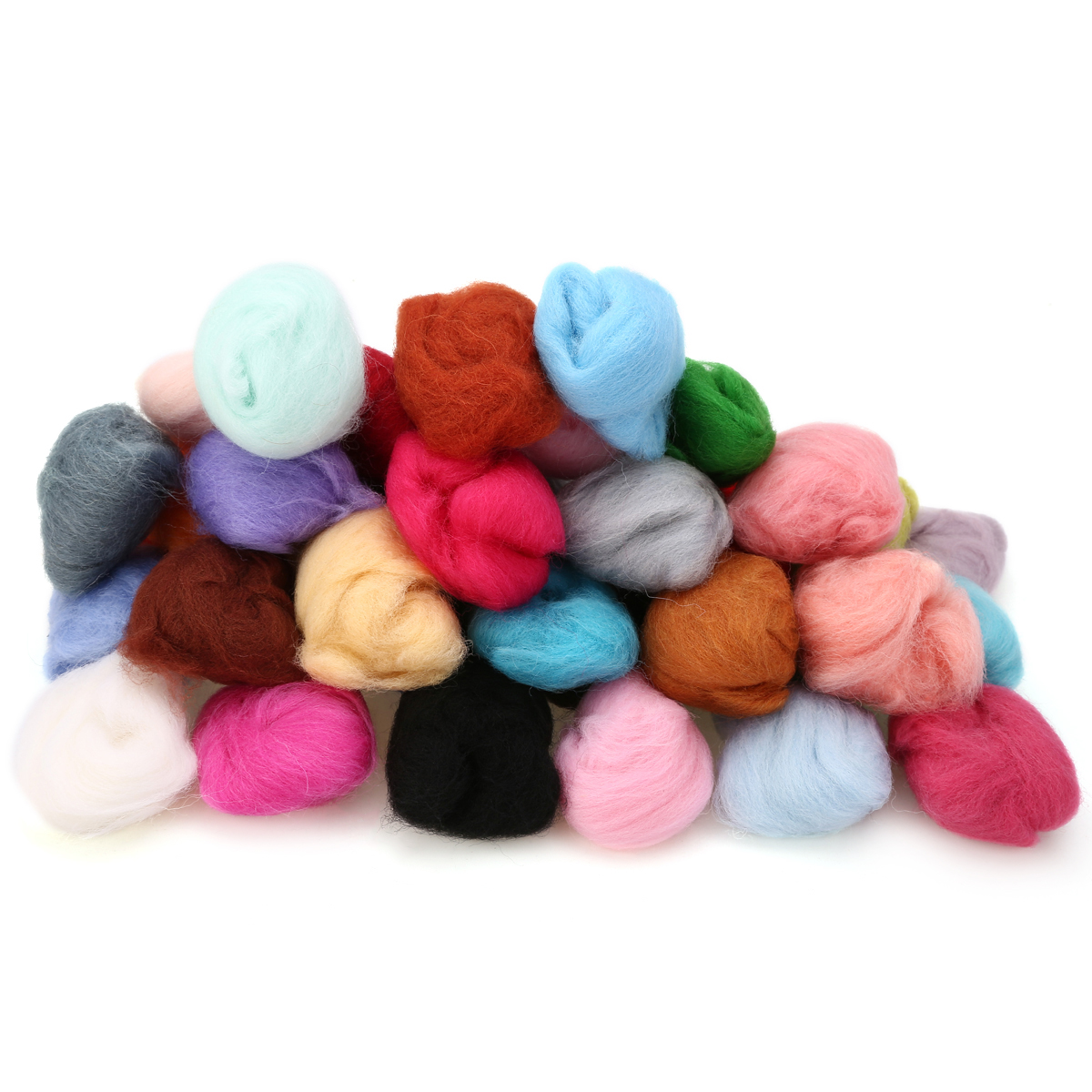 40 Colors 5g/bag Merino Wool Tops Felting Fibre For Needle Felting Wet Felting DIY Fun Doll Needlework Raw Wool Felt
