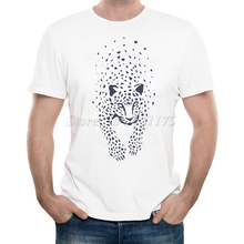 New Arrivals 2016 Men's Summer Abstract leopard Printed T Shirt Cool Tops High Quality Casual Short Sleeve Tee(China)