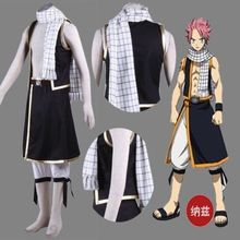 Free shipping Custom Made Natsu Scarf Cosplay Costume From Fairy Tail Anime Halloween Party Birthday High Quality 180cm(China)