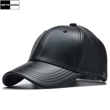 [NORTHWOOD] Solid Winter Leather Baseball Cap Men Branded Snapback Autumn Warm Black Cap Women Bone Masculino Mens Caps and Hats(China)