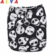 1pc Alvababy All In One Diaper with Pocket Sewn-in one 4-layer Bamboo Insert AIO Diaper