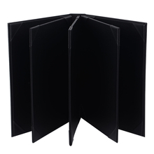 60 PCS/LOT 8 Pages Restaurant Menu Covers A4 Menu Folders Wine List Holder PU Leather  Menu Folders Accept Customized