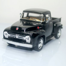 Brand New KT 1/38 Scale USA Ford F100 Pickup 1956 Diecast Metal Pull Back Car Model Toy For Collection/Kids/Gift