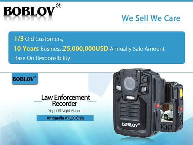 BOBLOV HD 1290P Police 33MP Security External IR Infrared Lens Body Worn Camera Night Vision Motion Detection Portable Personal 4