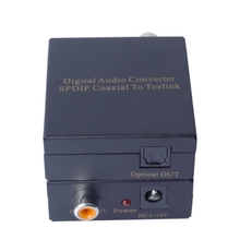 New Digital Audio Coaxial SPDIF Coax to Toslink Optical Digital Converter With Retail Package Audio Converter Adapter