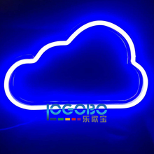 Cheap Led Electronic Signs Custom Neon Cloud Commercial Fast Vintage Cool Neon Tube Sign Lighting for Sale Portable Backlit Sign(China)