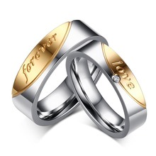 Hot Selling Alliance Ring Quality Stainless Steel Forever Love Ring for Women and Men Quality Gold-Color Wedding Ring(China)