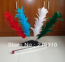 Free shipping Hamed Colorful Feather Sticks -- Magic Props, Magic Trick(China)