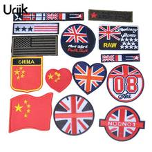 Buy Urijk 14PCs/set Iron Patches Clothing Applique Embroidery Patches Badges Fashion Flag DIY Clothes Sewing Decoration for $3.59 in AliExpress store