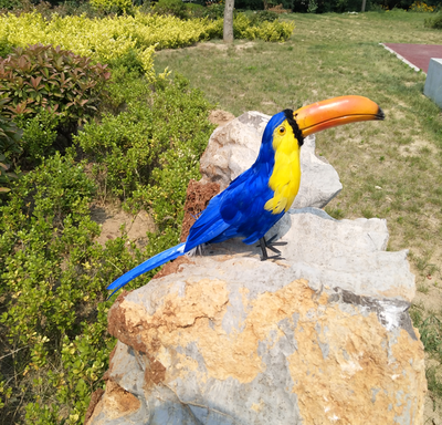 3pcs Artificial Toucan Bird Realistic Taxidermy Home Garden Decoration Toy