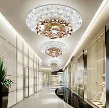 creative LED Crystal ceiling lamp for Corridor living room Bedroom crystal Downlight LED spotlight modern style lighting fixture