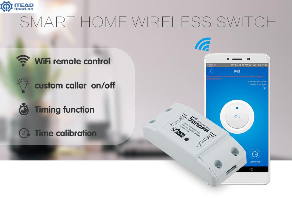 Sonoff dc220v Pilot Bezprzewodowy Przełącznik automatyki Inteligentnego Domu/Inteligentny WiFi Centrum dla APP Inteligentny Dom Steruje 10A/2200 W 3