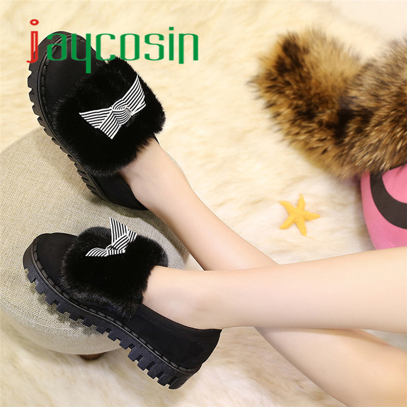 High quality Women Flat Cotton Shoes Keep Warm Winter Shoes Snow Ankle Boots Shoes <br><br>Aliexpress