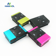HAMNOL 2017 Mini MP3 Player MP3 Clip Support Micro SD Card MP3+ Stereo Earphones Headset + Micro USB Charging Cable Hot Sale(China)