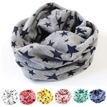 Spring Stars Baby Scarf Children's Scarves Cotton Neckerchief Kids Boy Girl Shawl Newborn Baby Autumn Knitting Kerchief Scarf