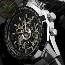 2016 Mens Watches top brand luxury Winner Fashion Skeleton Clock Men Sport Watch Automatic Mechanical Watches Relogio Masculino(China)