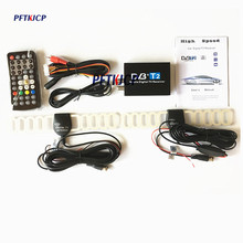 Digital Car TV Tuner DVB-T2 Box 120km/h dvbt2 tuners 2 antenna receiver External USB black digital dvb-t2 car dvd for DVB-T2(China)