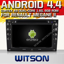 WITSON Android 4.4 CAR DVD gps for RENAULT Megane II Capacitive touch screen Cortex A9 dual-core 1.6G,8GB Rom Free Shipping+GIFT