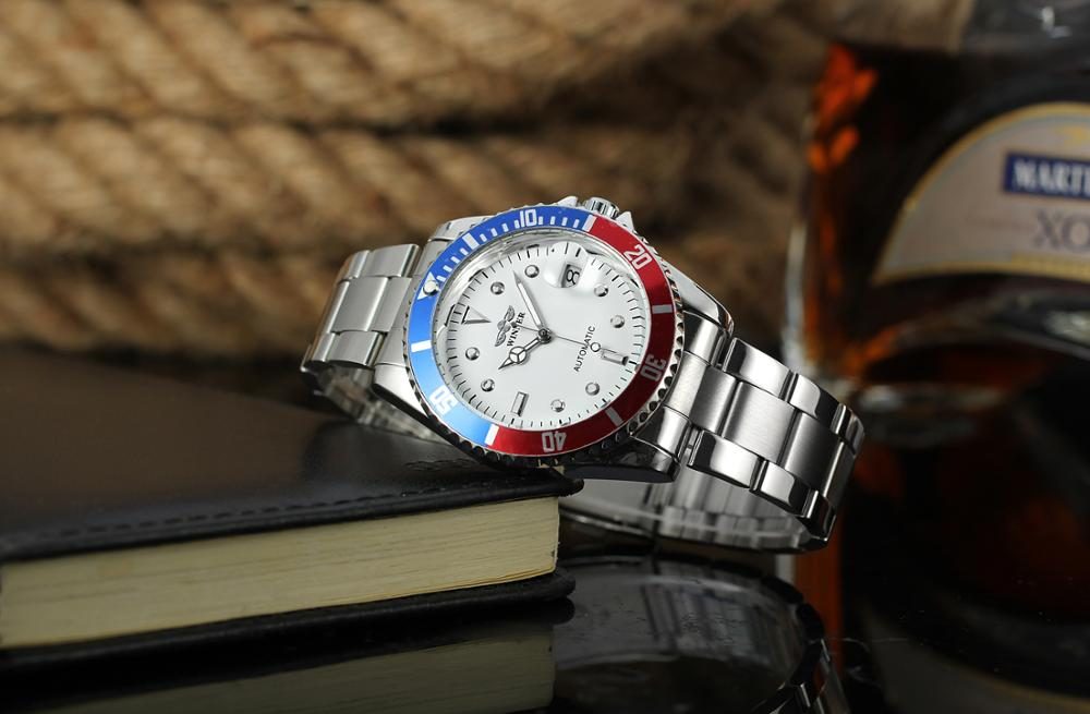 2017 Hot Selling Winner Brand Classic Men Stainless Steel Automatic Mechanical Custom Logo Watch