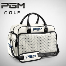 The new fight color portable oblique golf clothing package clothing bag waterproof PU ball bags independent shoe