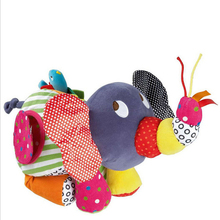 Infant Activity Toys Baby Large Elephant Stroller Rattles Mobiles Baby Brinquedos Educational plush Toys For Toddlers(China)