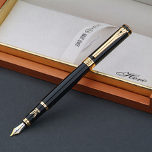 Hero1078 High Quality New Desige Iridium Fountain Pen Ink Pen lea Gold Clip With Original Box(China)