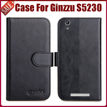 Hot Sale! Ginzzu S5230 Case New Arrival 6 Colors High Quality Flip Leather Protective Phone Cover For Ginzzu S5230 Case(China)